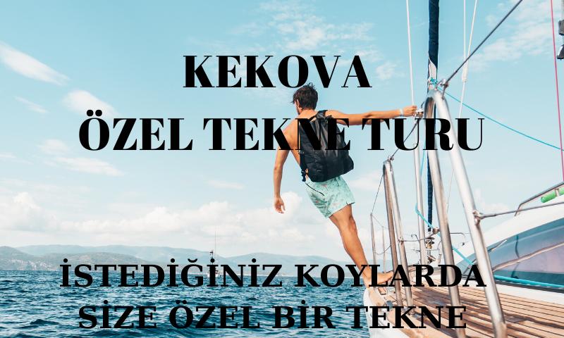 kekova özel tekne turu